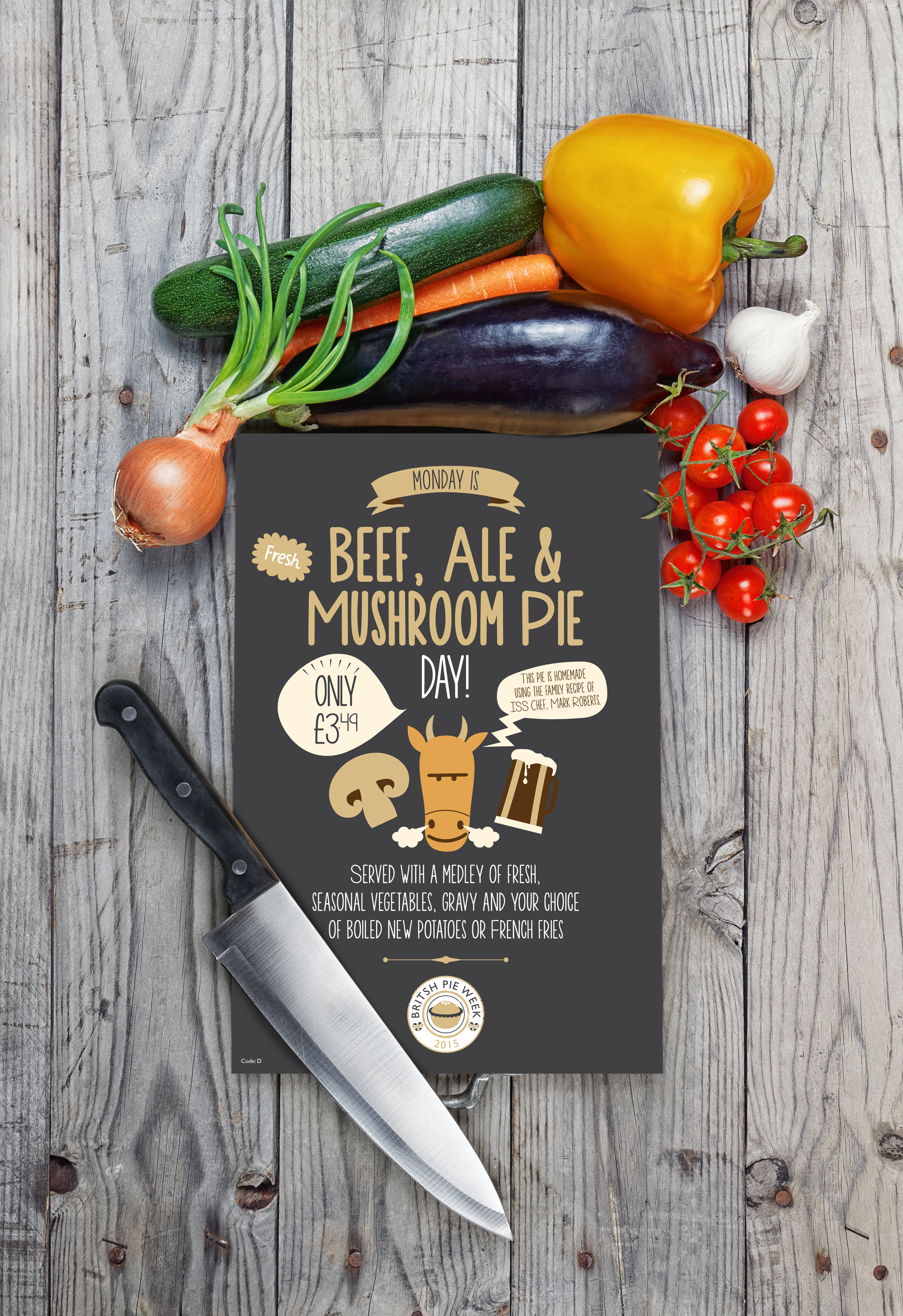 Beef and Ale Pie Poster In Situ