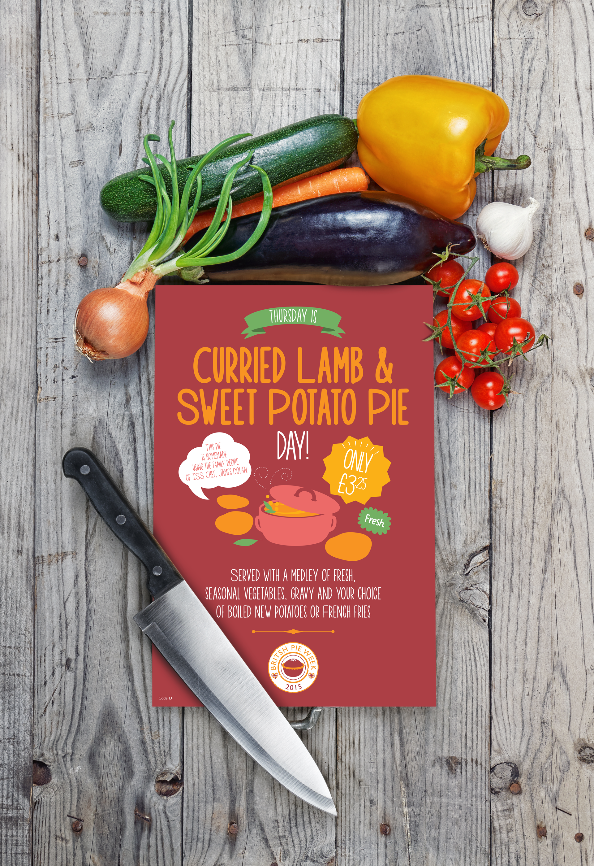 Curried Lamb Pie Poster In Situ