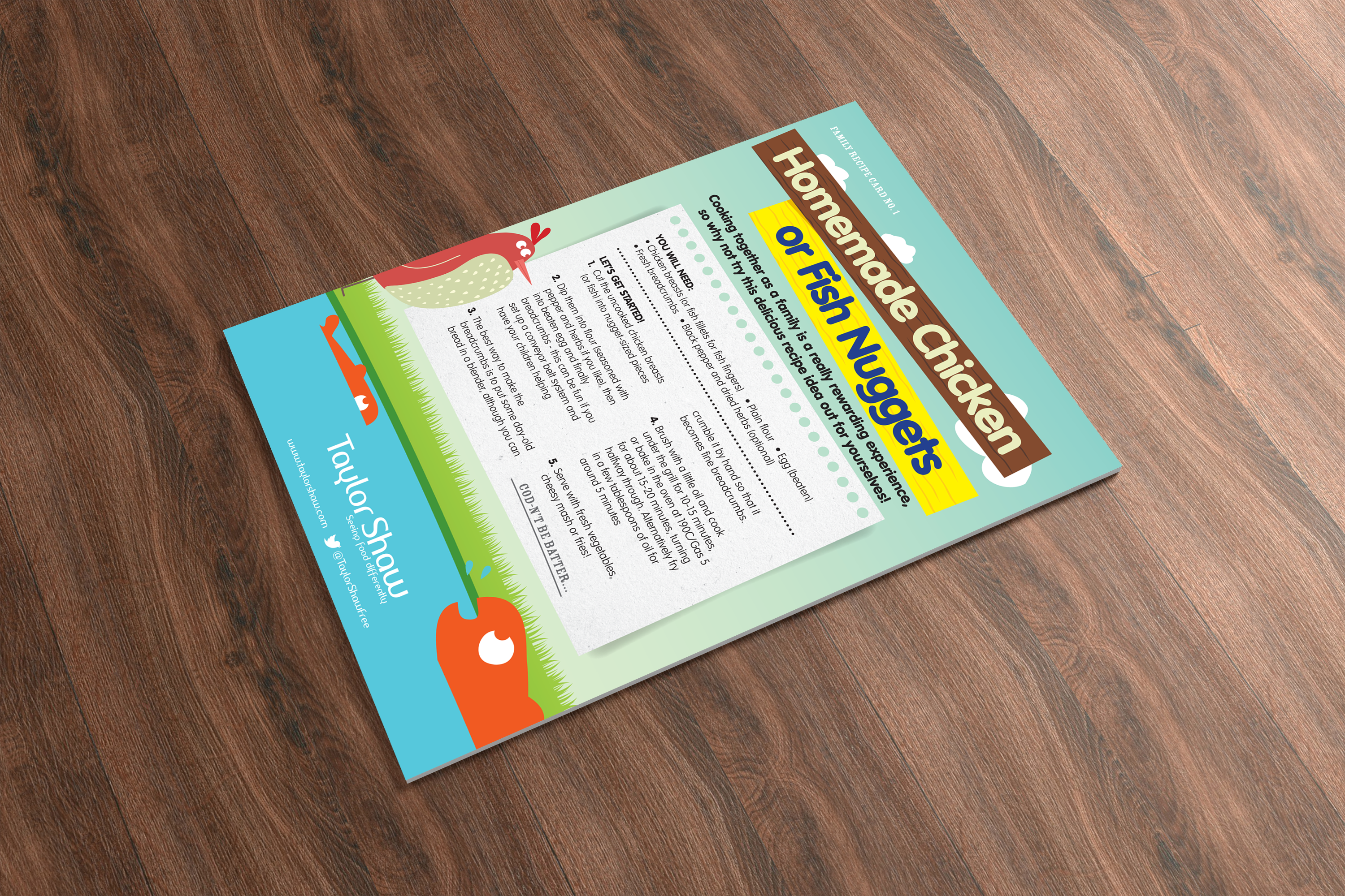 Free School Meals Recipe Card