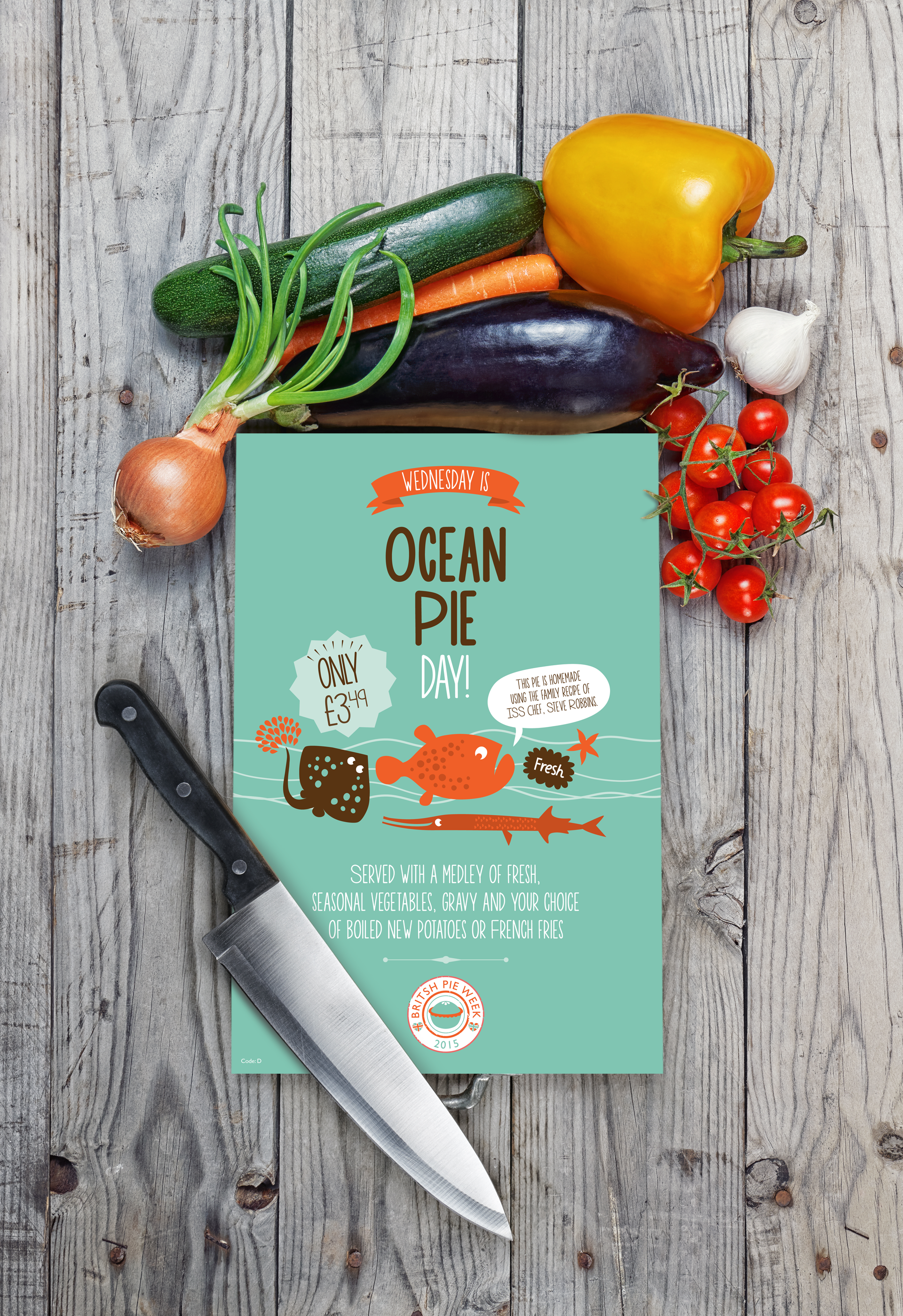 Ocean Pie Poster In Situ